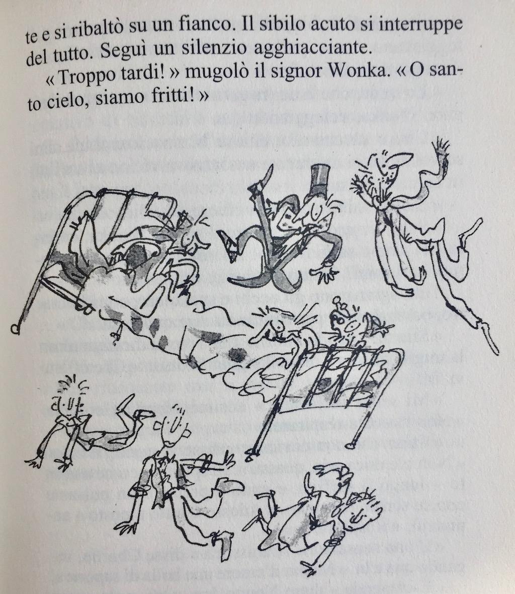 Illustrazione del libro Il grande ascensore di cristallo Quentin Blake