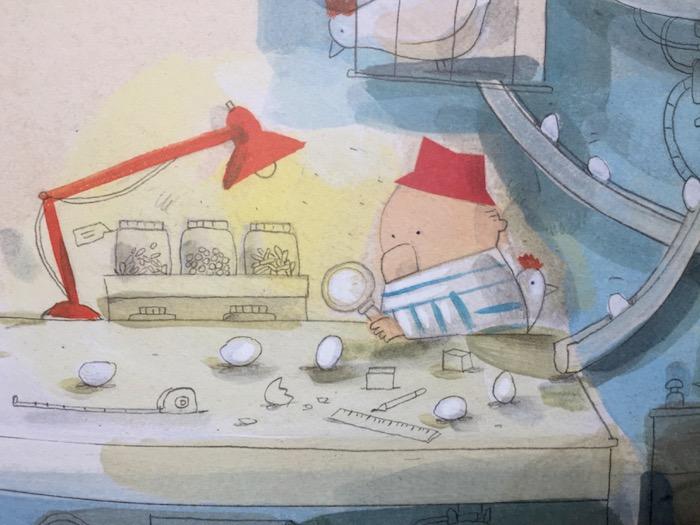 Libro illustrato ad acquerello, l'accalappialzna recensione