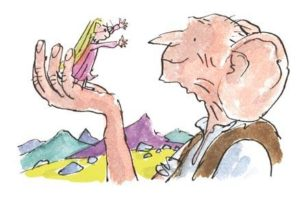 Disegno di Quentin Blake per il libro GGG il Grande Gigante Gentile