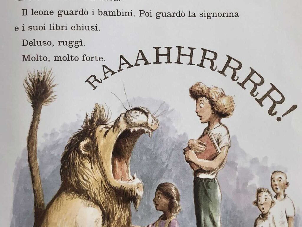 Il leone in biblioteca ruggisce